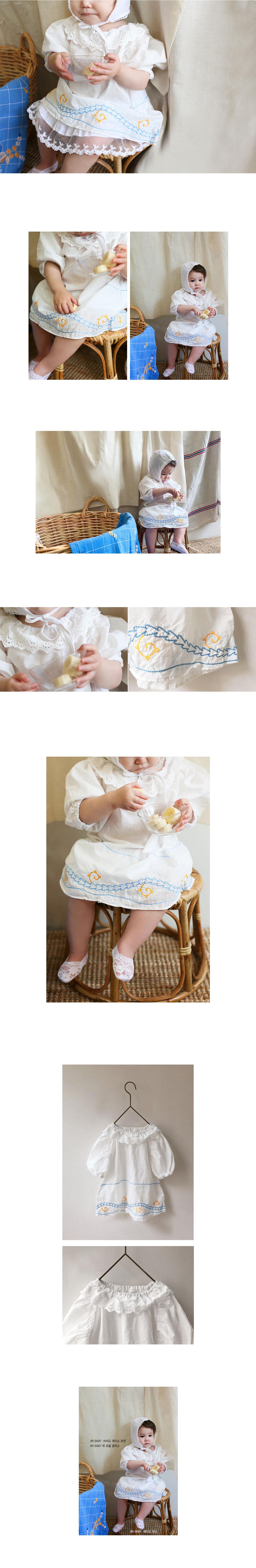 BIEN A BIEN - Korean Children Fashion - #Kfashion4kids - Baby Neck Frill Dress - 2