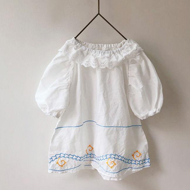 BIEN A BIEN - BRAND - Korean Children Fashion - #Kfashion4kids - Baby Neck Frill Dress