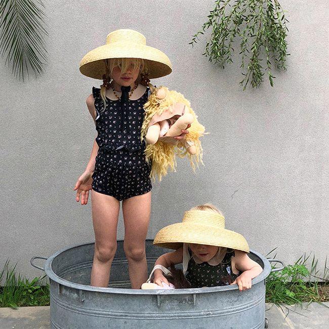 BIEN A BIEN - BRAND - Korean Children Fashion - #Kfashion4kids - Floral Shirring Swimwear