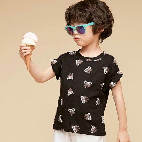 COCO BANG - BRAND - Korean Children Fashion - #Kfashion4kids - Owl Tee