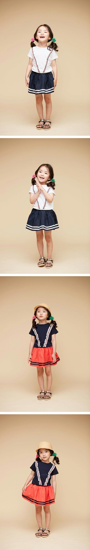 COCO BANG - Korean Children Fashion - #Kfashion4kids - Marine Frill Tee