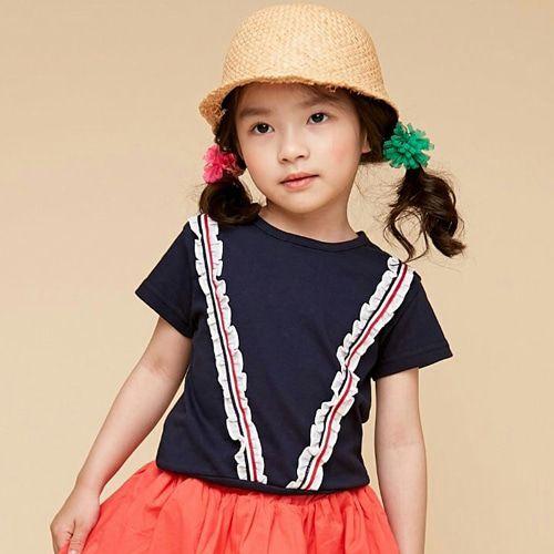 COCO BANG - BRAND - Korean Children Fashion - #Kfashion4kids - Marine Frill Tee