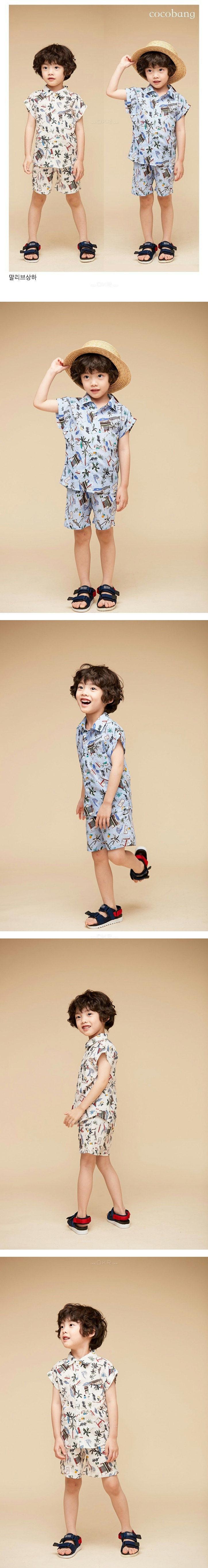 COCO BANG - Korean Children Fashion - #Kfashion4kids - Malibu Top Bottom Set