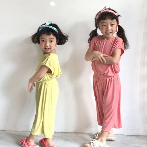 CONCOCTER - BRAND - Korean Children Fashion - #Kfashion4kids - Twist Sleeveless Top Bottom Set