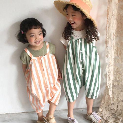CONCOCTER - BRAND - Korean Children Fashion - #Kfashion4kids - Papaja Stripe Overall Pants