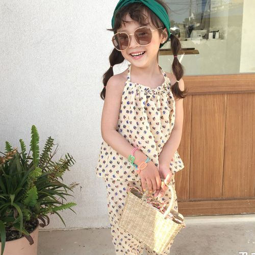CONCOCTER - BRAND - Korean Children Fashion - #Kfashion4kids - Aloha Holter Top Bottom Set