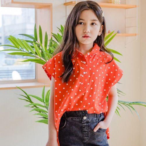 DORE DORE - BRAND - Korean Children Fashion - #Kfashion4kids - Dot Blouse