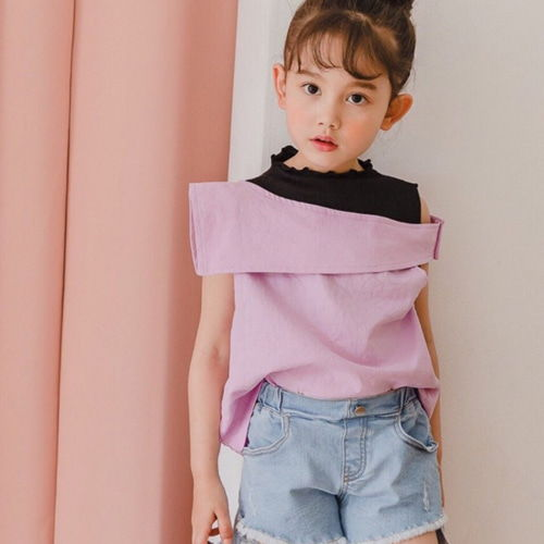 DORE DORE - BRAND - Korean Children Fashion - #Kfashion4kids - Off Shoulder Sleeveless Top