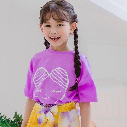 DORE DORE - BRAND - Korean Children Fashion - #Kfashion4kids - Girls Heart Tee