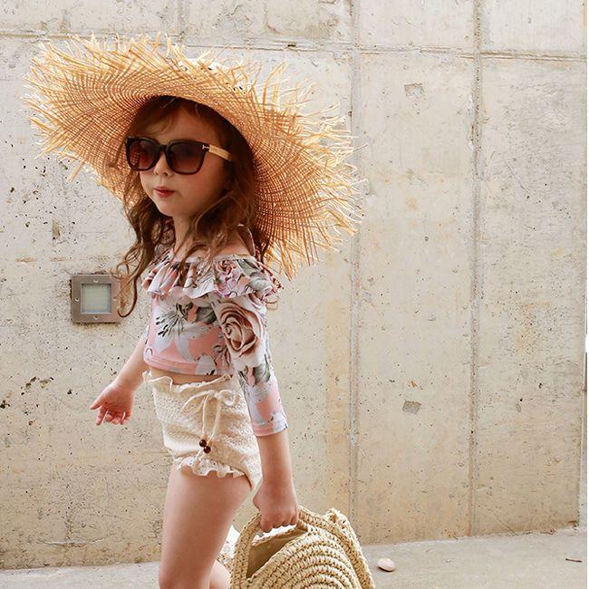 FLO - BRAND - Korean Children Fashion - #Kfashion4kids - Modive Swimsuit with Hat