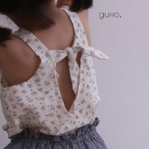 GUNO - BRAND - Korean Children Fashion - #Kfashion4kids - Ribbon Tee