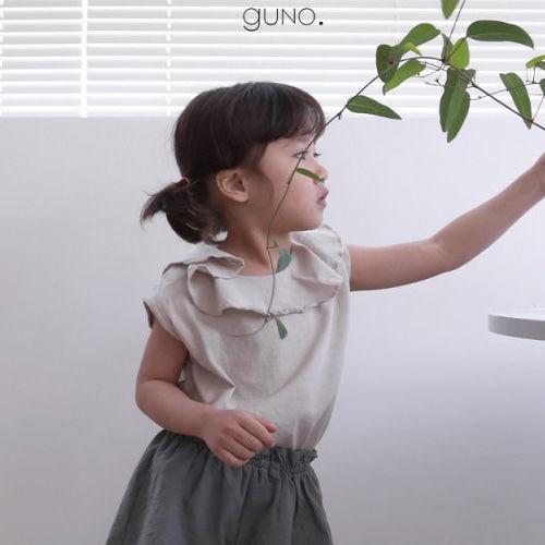 GUNO - BRAND - Korean Children Fashion - #Kfashion4kids - Neck Frill Tee