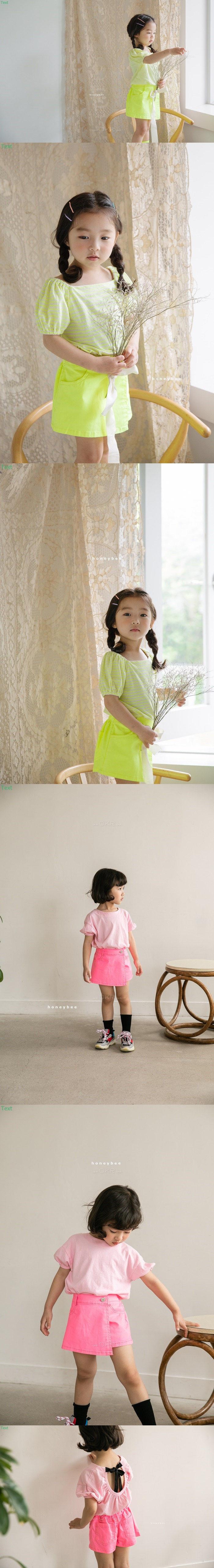 HONEYBEE - Korean Children Fashion - #Kfashion4kids - Neon Skirt Pants