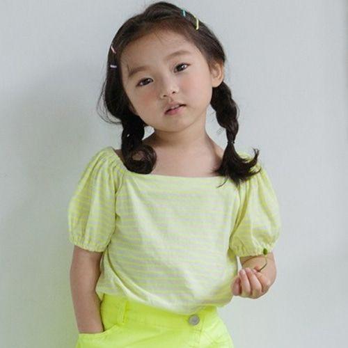 HONEYBEE - BRAND - Korean Children Fashion - #Kfashion4kids - Stripe Square Tee