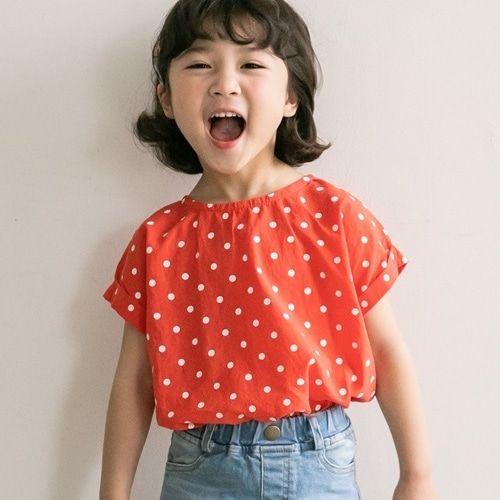 HONEYBEE - BRAND - Korean Children Fashion - #Kfashion4kids - Dot Blouse