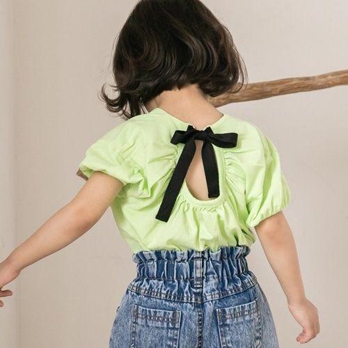 HONEYBEE - BRAND - Korean Children Fashion - #Kfashion4kids - Back Ribbon Tee