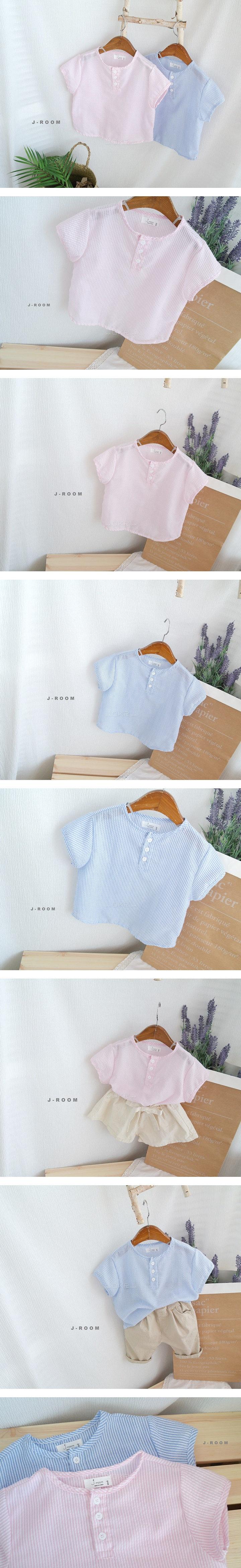 J-ROOM - Korean Children Fashion - #Kfashion4kids - Stripe Tee