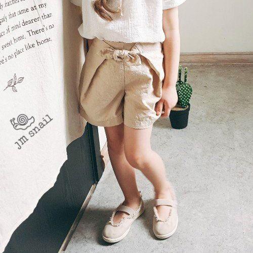 JM SNAIL - BRAND - Korean Children Fashion - #Kfashion4kids - Ribbon Short Pants