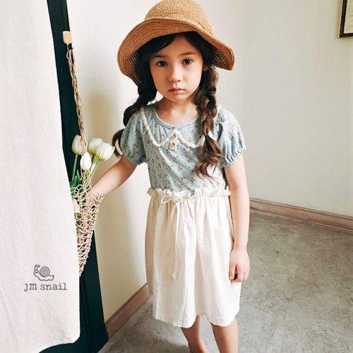JM SNAIL - BRAND - Korean Children Fashion - #Kfashion4kids - Small Flower Dress