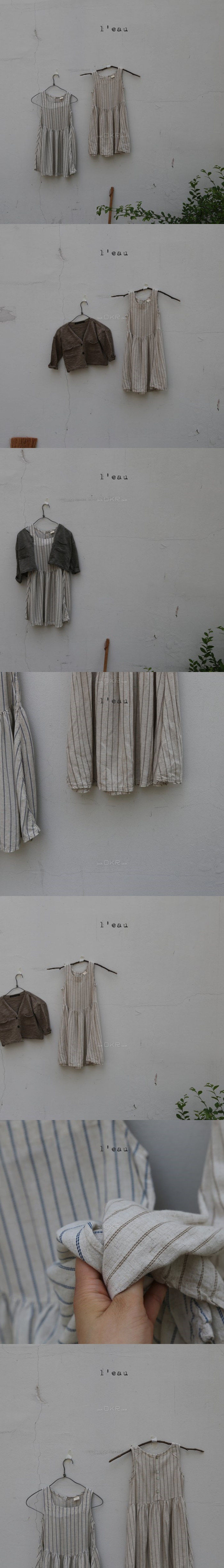 LEAU - Korean Children Fashion - #Kfashion4kids - Stripe Sleeveless One-piece