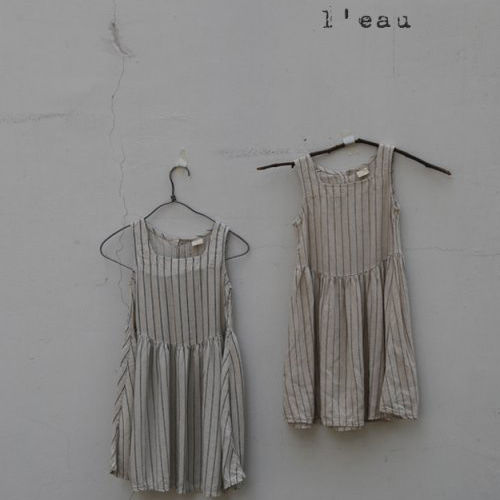 LEAU - BRAND - Korean Children Fashion - #Kfashion4kids - Stripe Sleeveless One-piece
