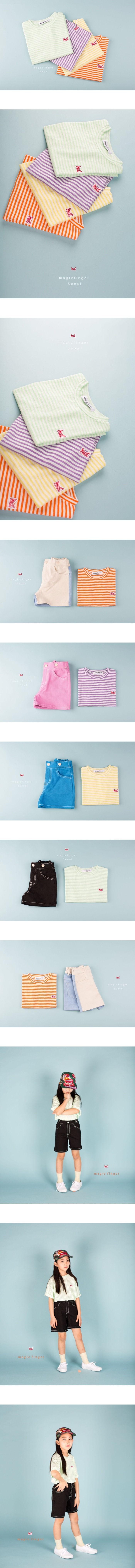 MAGIC FINGER - Korean Children Fashion - #Kfashion4kids - Magic Stripe Tee