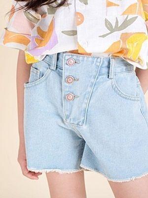 MAGIC FINGER - BRAND - Korean Children Fashion - #Kfashion4kids - Magic Denim Short Pants