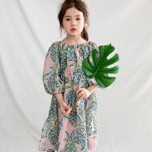 MERRY KATE - BRAND - Korean Children Fashion - #Kfashion4kids - Bubble Pineapple Dress