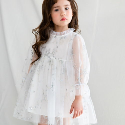MERRY KATE - BRAND - Korean Children Fashion - #Kfashion4kids - Star Shinny Dress