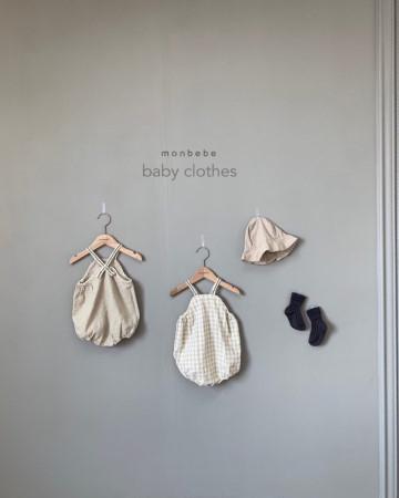 MONBEBE - BRAND - Korean Children Fashion - #Kfashion4kids - Macaron Baby Bodysuit