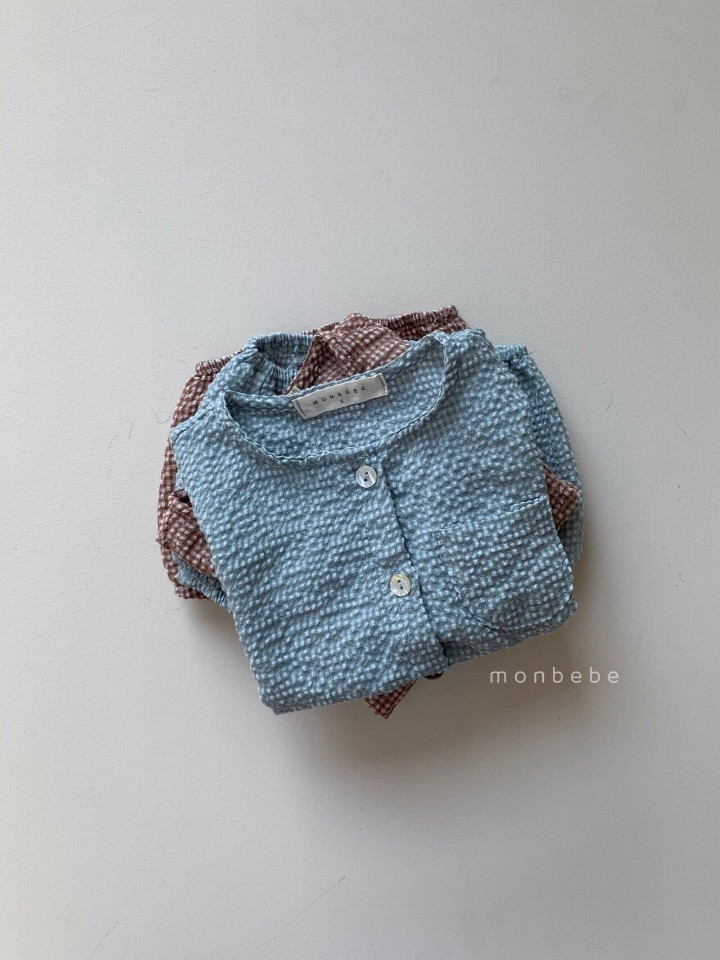 MONBEBE - Korean Children Fashion - #Kfashion4kids - Small Check Top Bloomer Set - 4