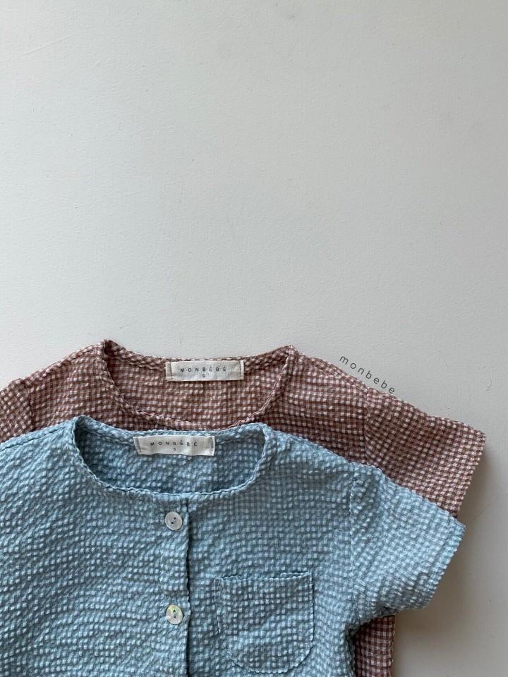 MONBEBE - Korean Children Fashion - #Kfashion4kids - Small Check Top Bloomer Set - 7