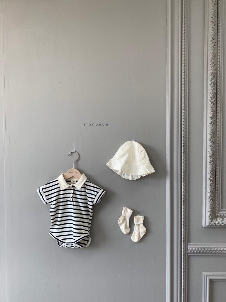MONBEBE - Korean Children Fashion - #Kfashion4kids - Paul Collar Baby Bodysuit
