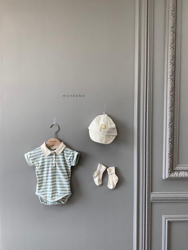MONBEBE - Korean Children Fashion - #Kfashion4kids - Paul Collar Baby Bodysuit - 2