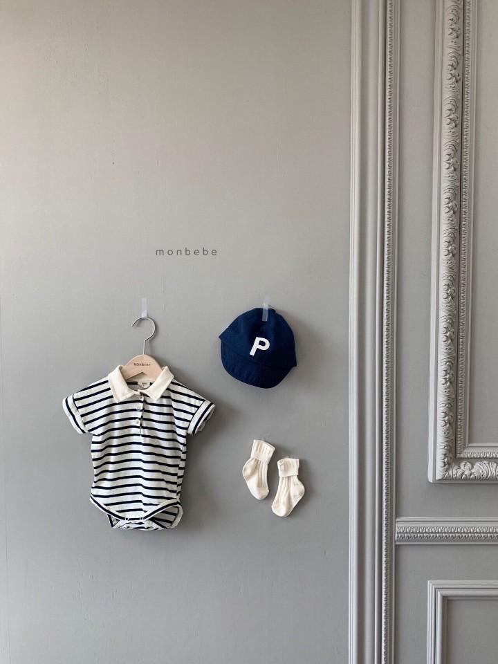 MONBEBE - Korean Children Fashion - #Kfashion4kids - Paul Collar Baby Bodysuit - 3