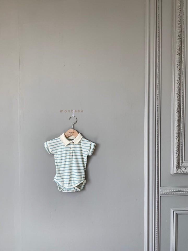 MONBEBE - Korean Children Fashion - #Kfashion4kids - Paul Collar Baby Bodysuit - 4