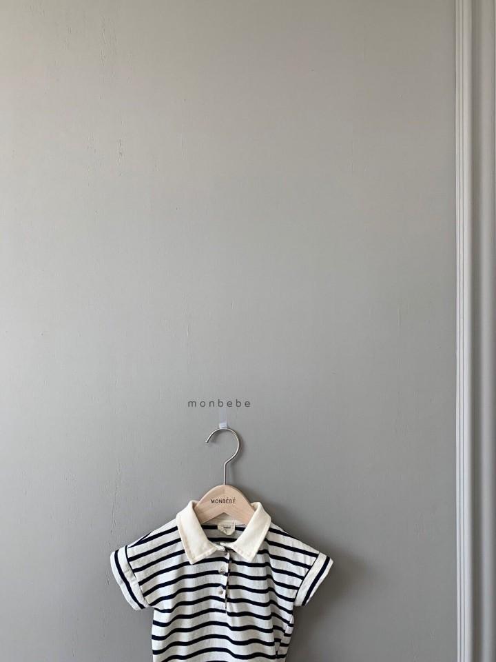 MONBEBE - Korean Children Fashion - #Kfashion4kids - Paul Collar Baby Bodysuit - 6