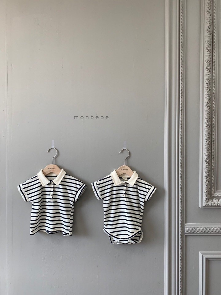 MONBEBE - Korean Children Fashion - #Kfashion4kids - Paul Collar Baby Bodysuit - 8