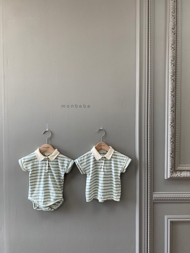 MONBEBE - Korean Children Fashion - #Kfashion4kids - Paul Collar Baby Bodysuit - 9