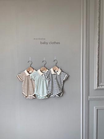 MONBEBE - BRAND - Korean Children Fashion - #Kfashion4kids - Paul Collar Baby Bodysuit