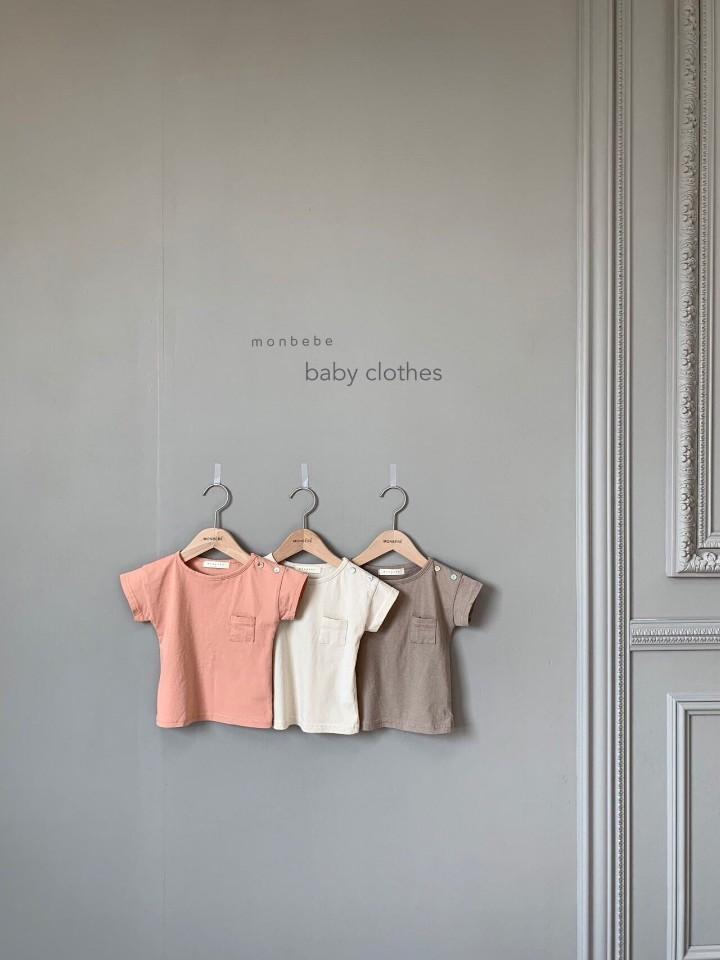 MONBEBE - Korean Children Fashion - #Kfashion4kids - Pocket Tee