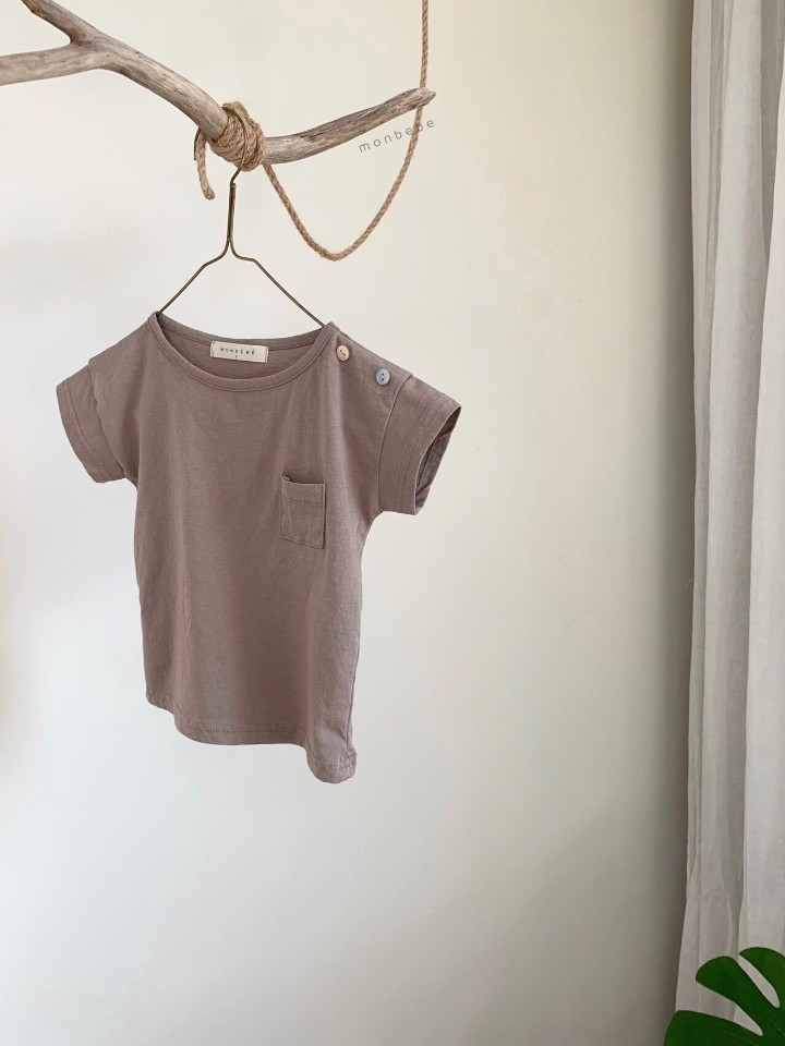 MONBEBE - Korean Children Fashion - #Kfashion4kids - Pocket Tee - 5