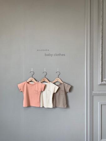 MONBEBE - BRAND - Korean Children Fashion - #Kfashion4kids - Pocket Tee