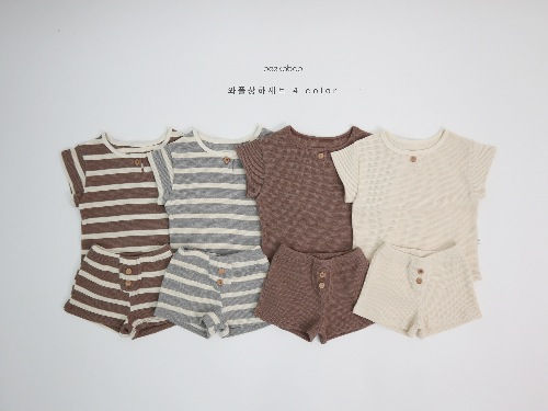PEEKABOO - BRAND - Korean Children Fashion - #Kfashion4kids - Waffle Easywear