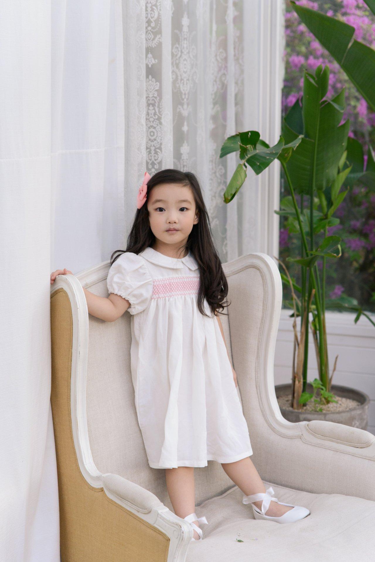 POURENFANT - Korean Children Fashion - #Kfashion4kids - Lorraine Linen Dress - 3