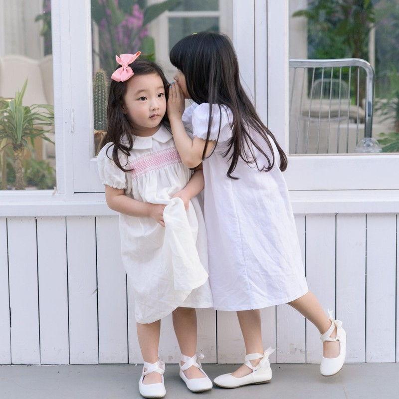 POURENFANT - BRAND - Korean Children Fashion - #Kfashion4kids - Lorraine Linen Dress