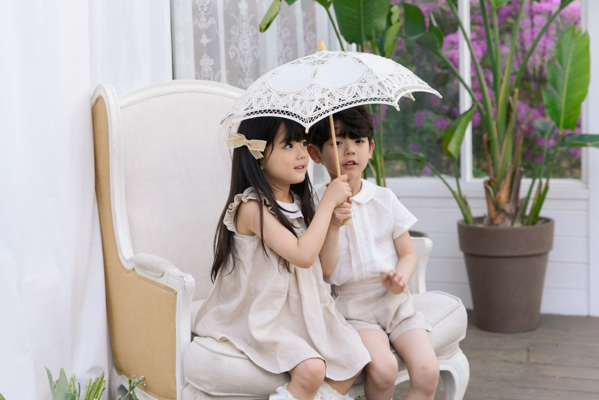 POURENFANT - Korean Children Fashion - #Kfashion4kids - Grandel Linen Top Bottom Set - 6