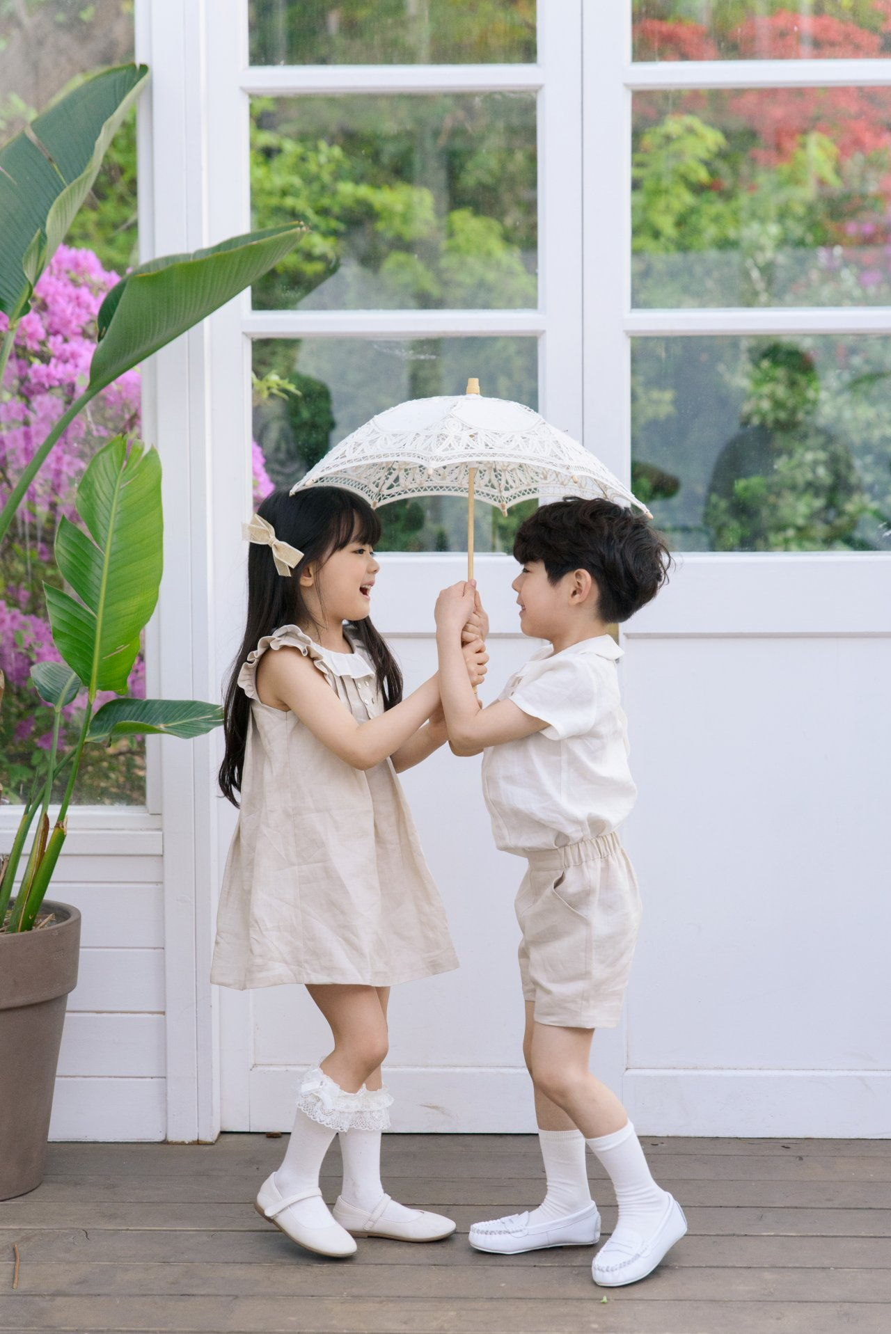 POURENFANT - Korean Children Fashion - #Kfashion4kids - Grandel Linen Top Bottom Set - 8