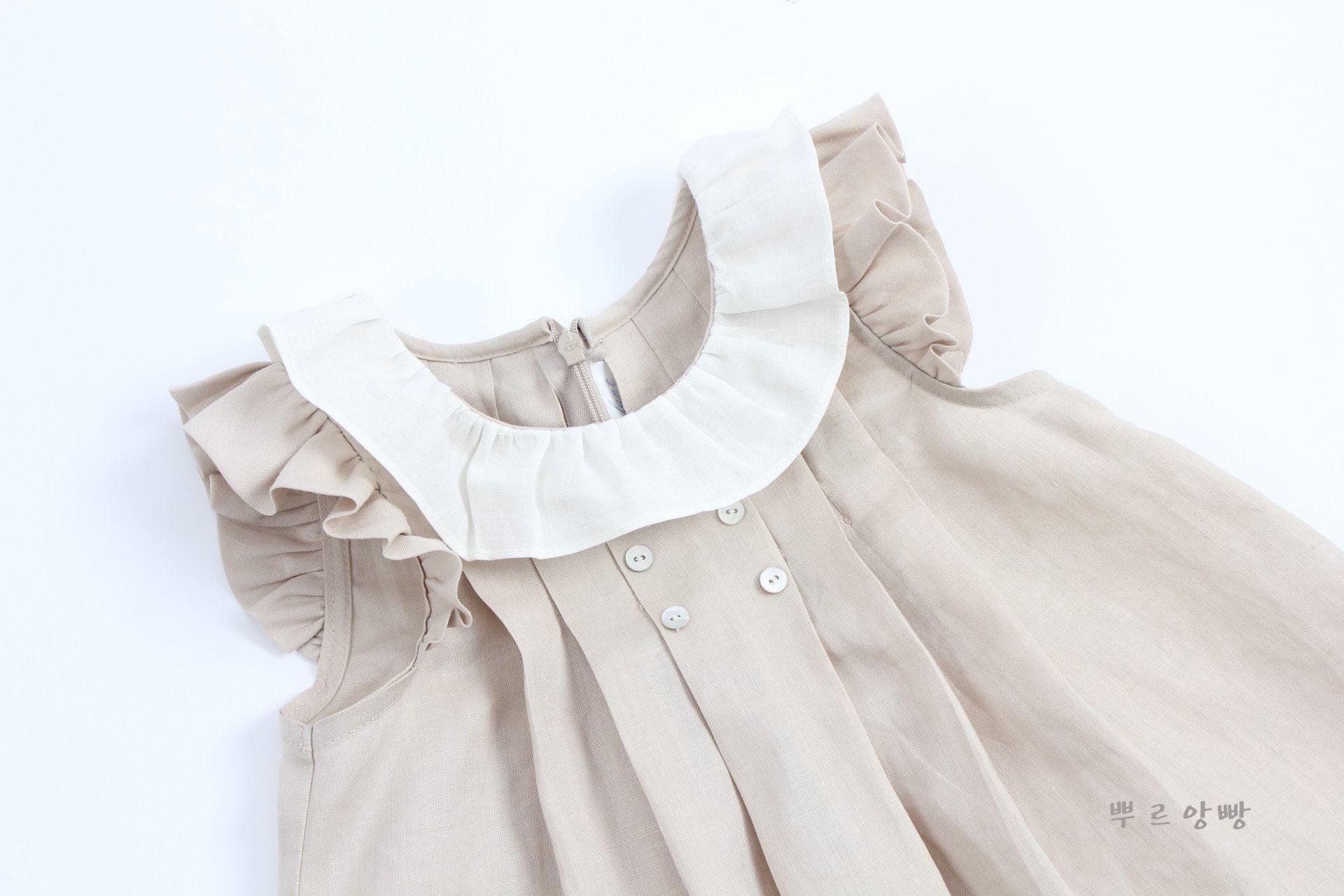 POURENFANT - Korean Children Fashion - #Kfashion4kids - Grendel Linen One-piece - 2