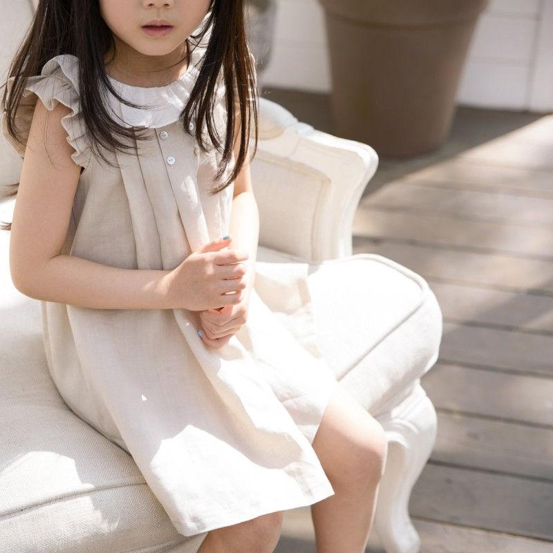 POURENFANT - BRAND - Korean Children Fashion - #Kfashion4kids - Grendel Linen One-piece